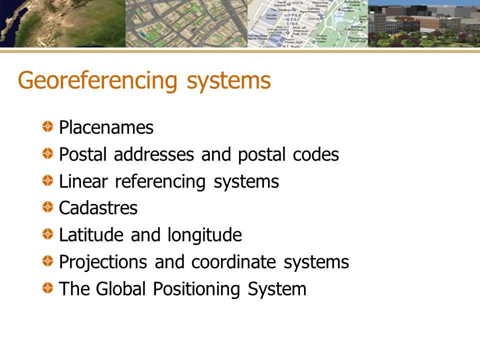 Georeferencing systems