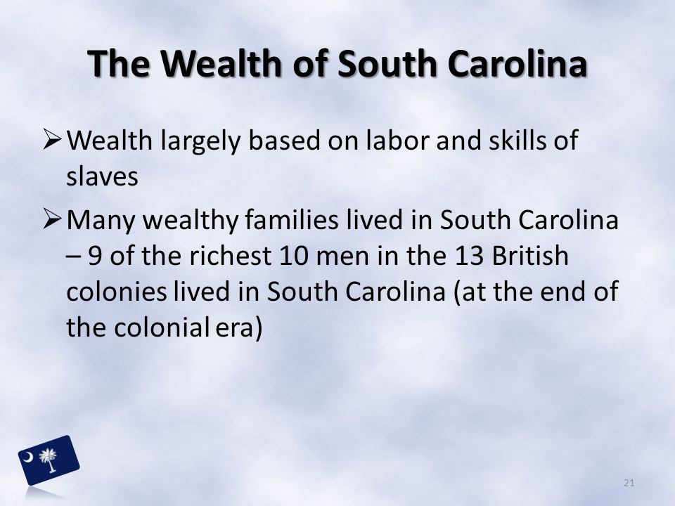 The Wealth of South Carolina