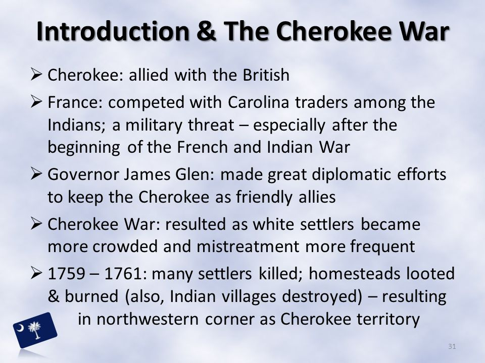 Introduction & The Cherokee War