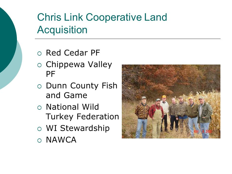 Chris Link Cooperative Land Acquisition