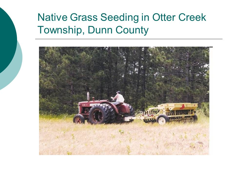 Native Grass Seeding in Otter Creek Township, Dunn County