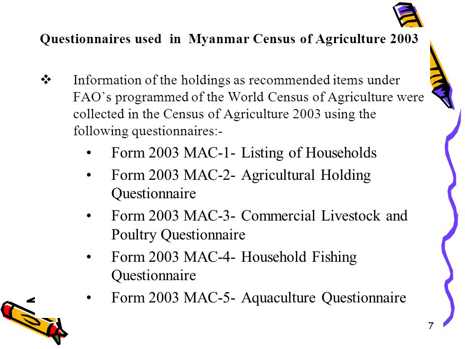 Form 2003 MAC-1- Listing of Households