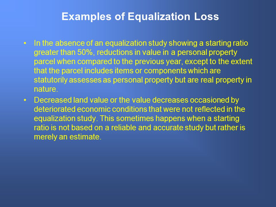 Examples of Equalization Loss