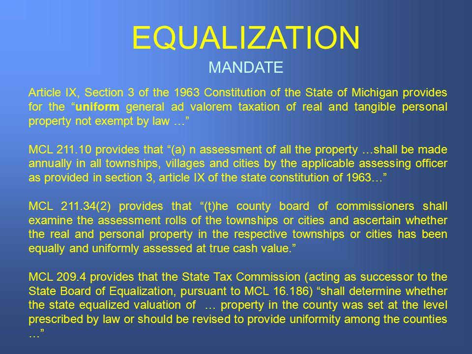 EQUALIZATION MANDATE.