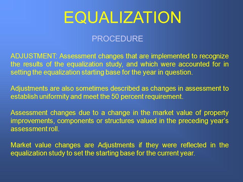 EQUALIZATION PROCEDURE