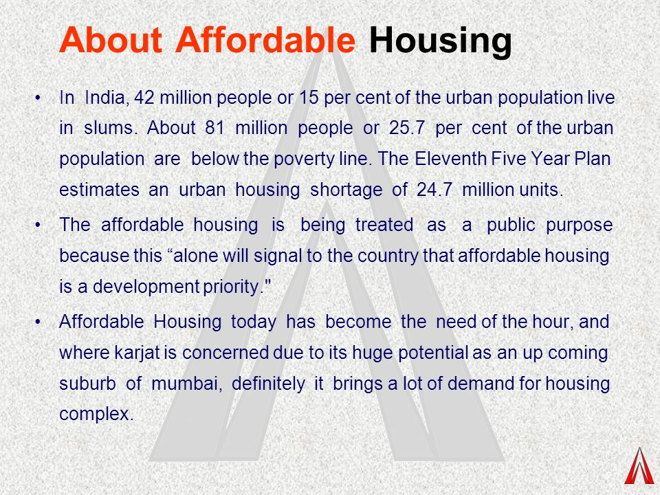 About Affordable Housing