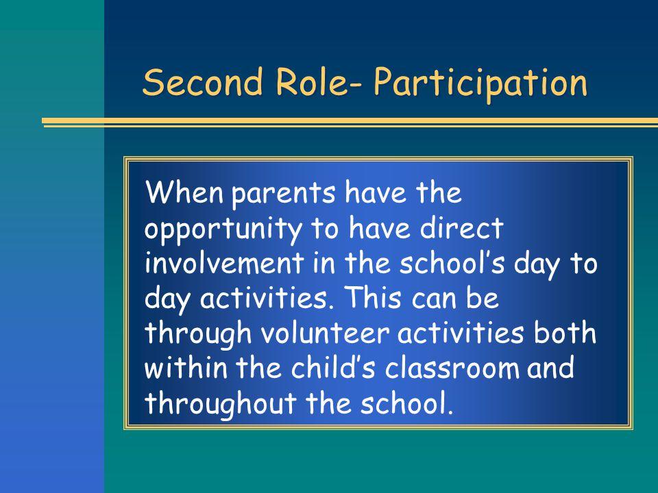 Second Role- Participation