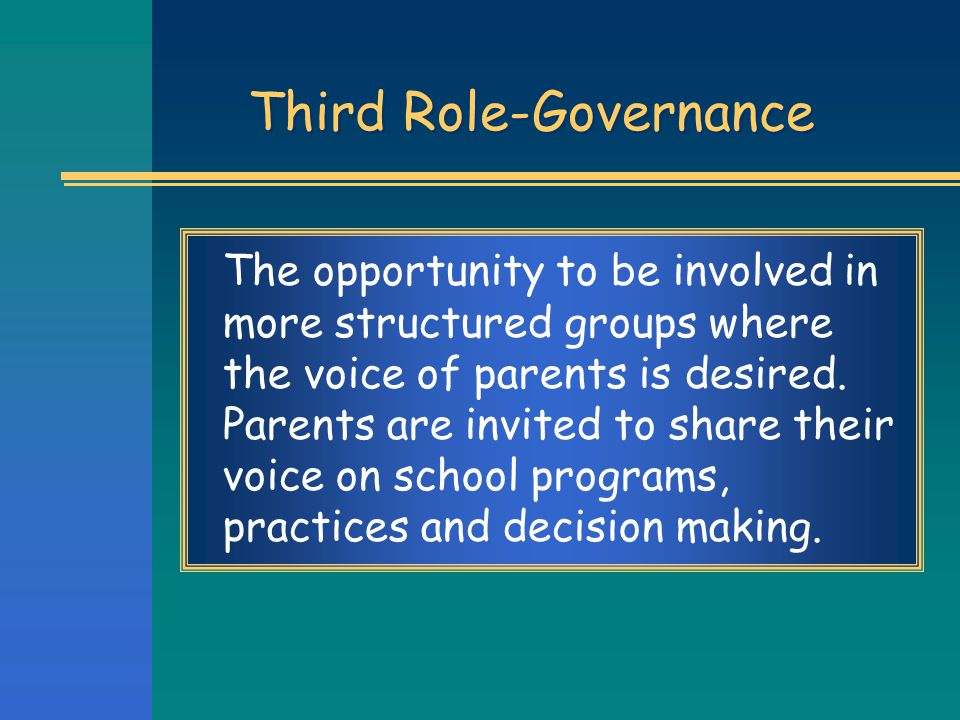 Third Role-Governance