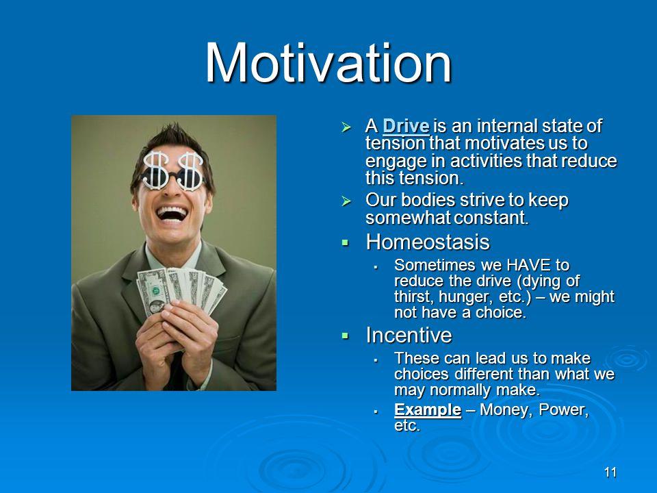 Motivation Homeostasis Incentive