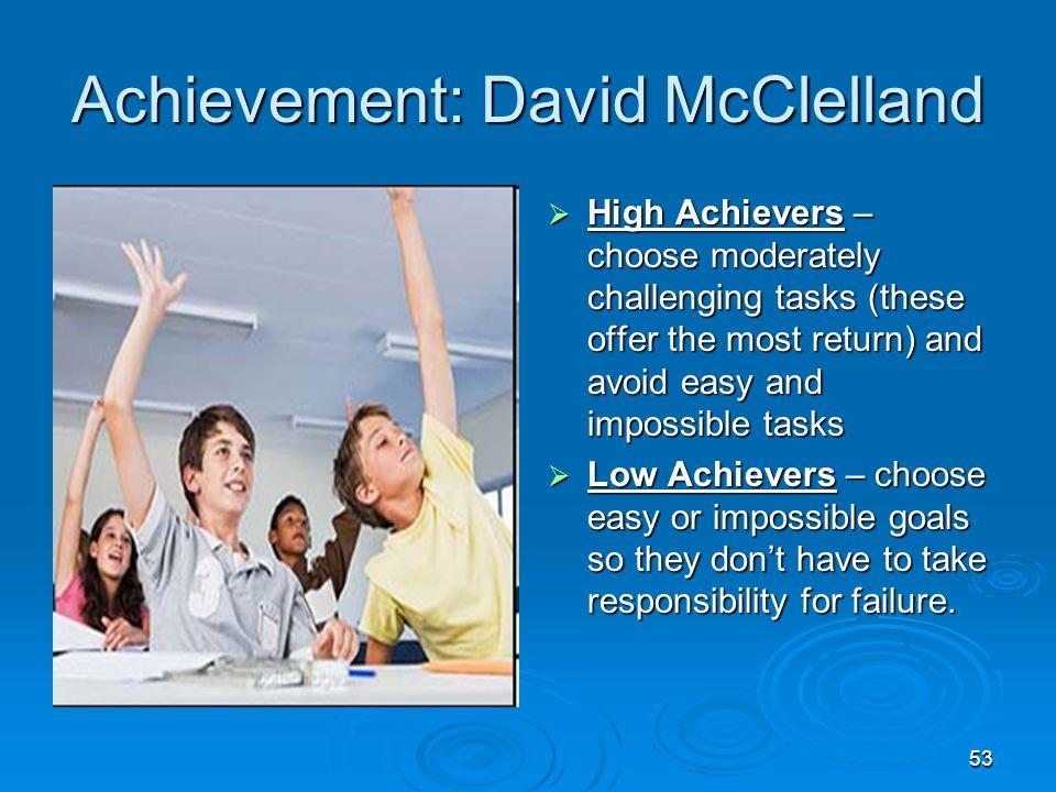 Achievement: David McClelland