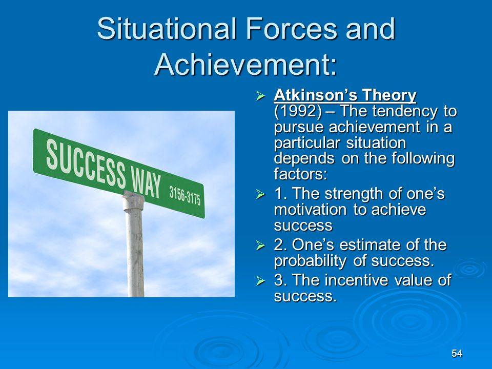 Situational Forces and Achievement: