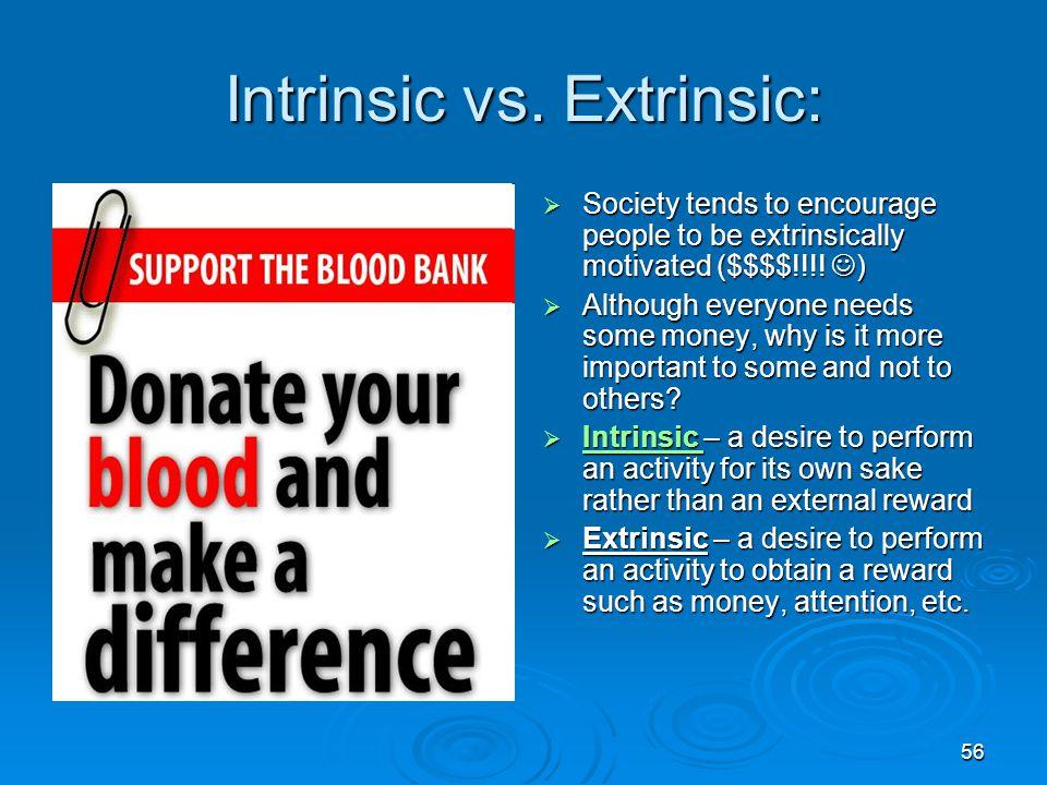 Intrinsic vs. Extrinsic: