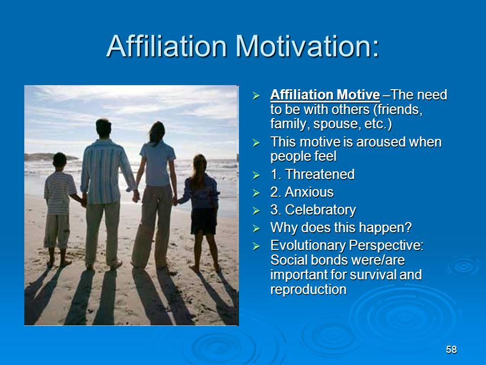 Affiliation Motivation: