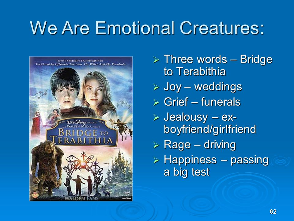 We Are Emotional Creatures: