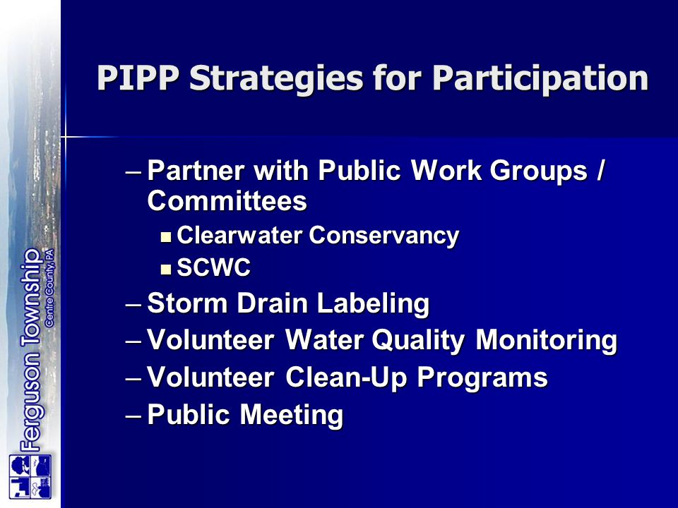 PIPP Strategies for Participation