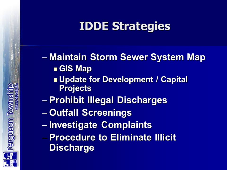 IDDE Strategies Maintain Storm Sewer System Map