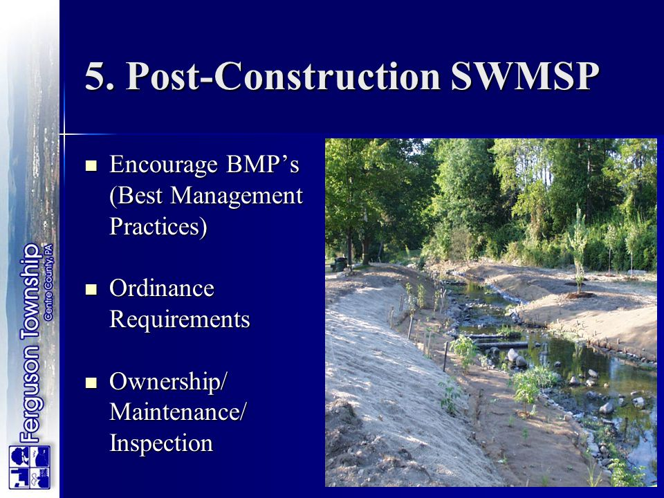5. Post-Construction SWMSP