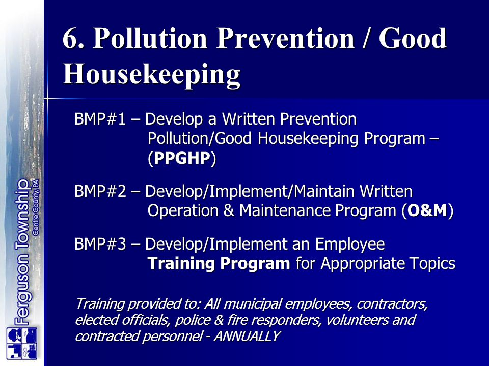 6. Pollution Prevention / Good Housekeeping