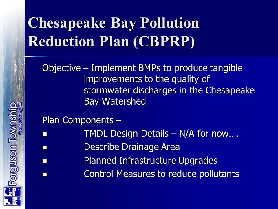 Chesapeake Bay Pollution Reduction Plan (CBPRP)