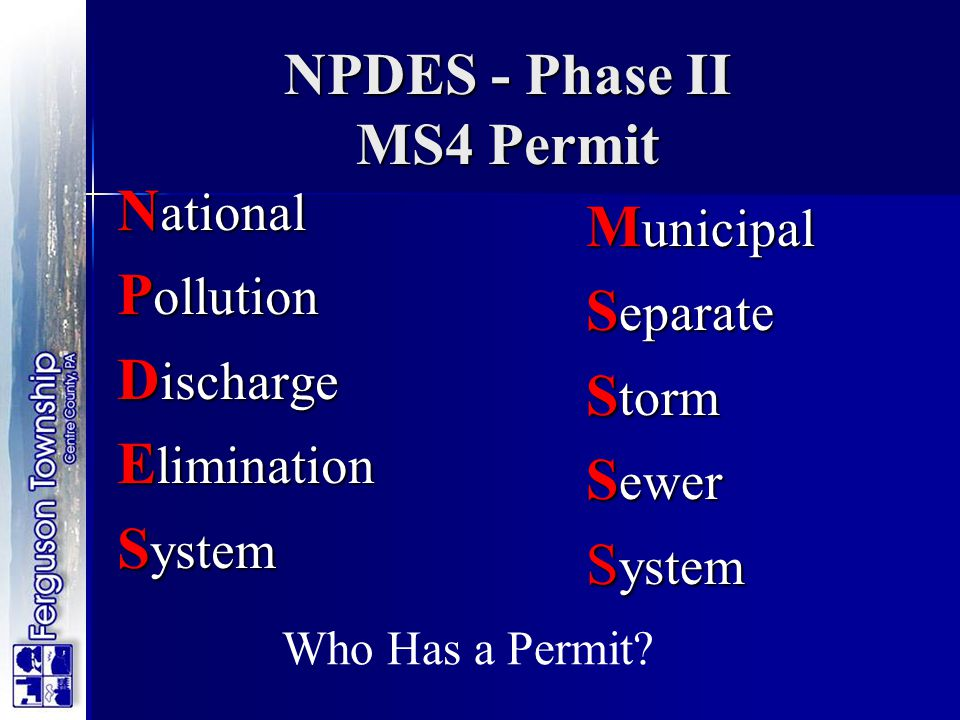 NPDES - Phase II MS4 Permit