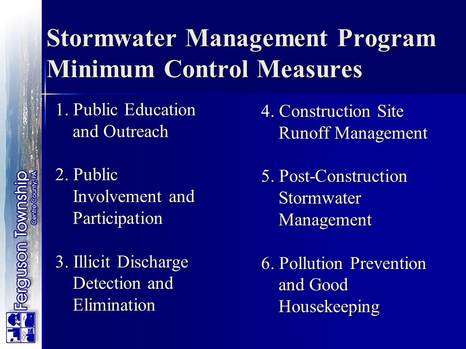Stormwater Management Program Minimum Control Measures