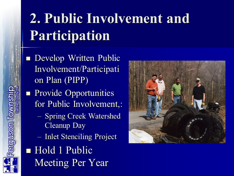 2. Public Involvement and Participation