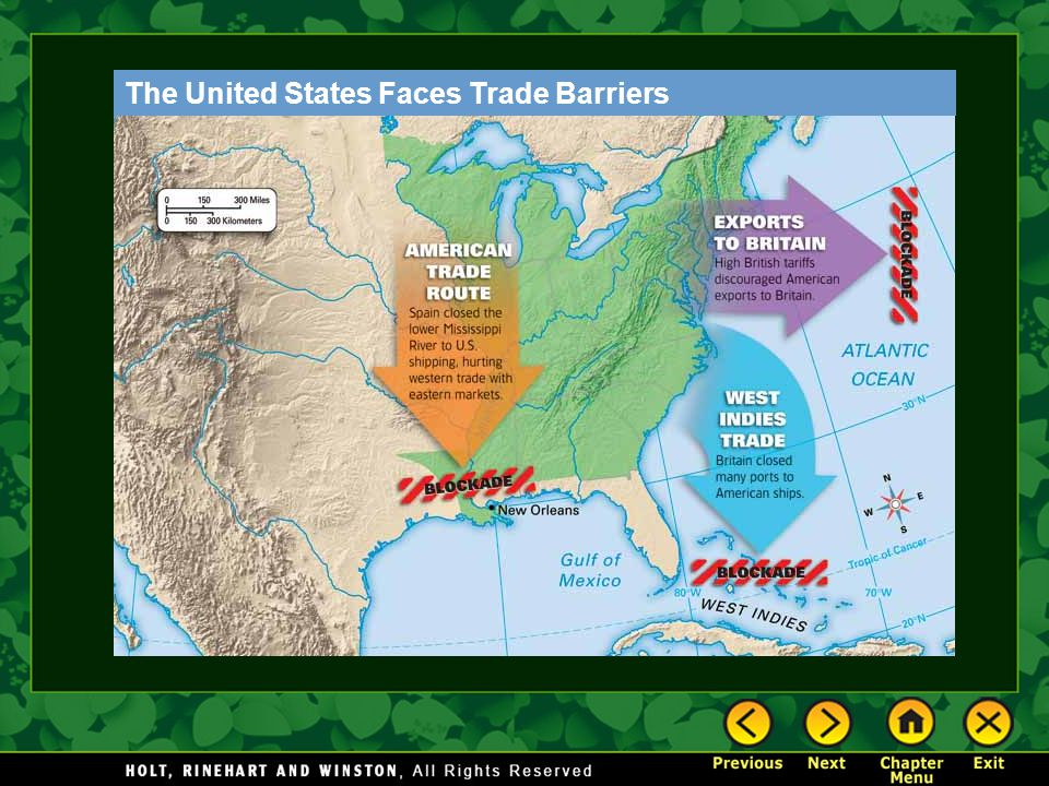The United States Faces Trade Barriers
