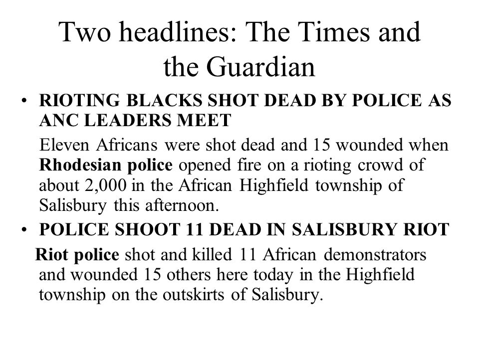 Two headlines: The Times and the Guardian