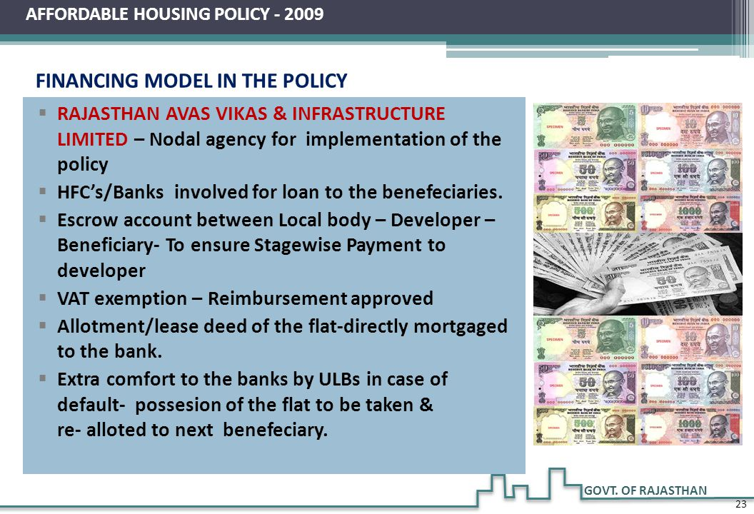 FINANCING MODEL IN THE POLICY