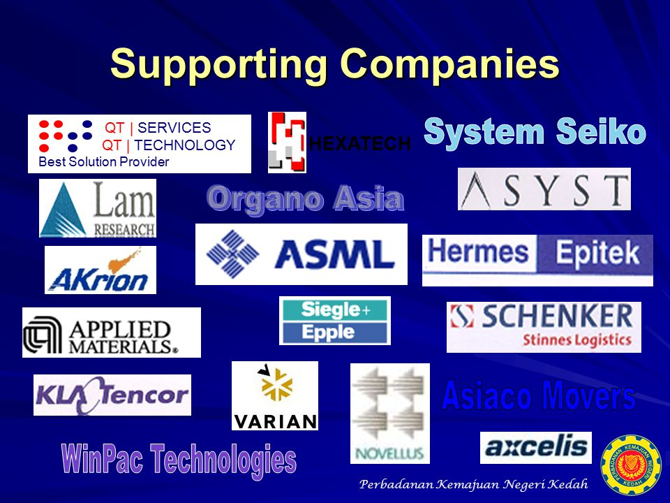 Supporting Companies System Seiko Organo Asia Asiaco Movers