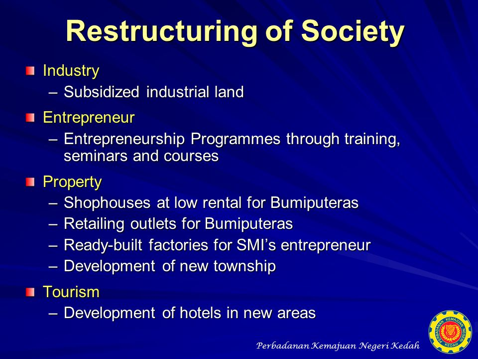 Restructuring of Society