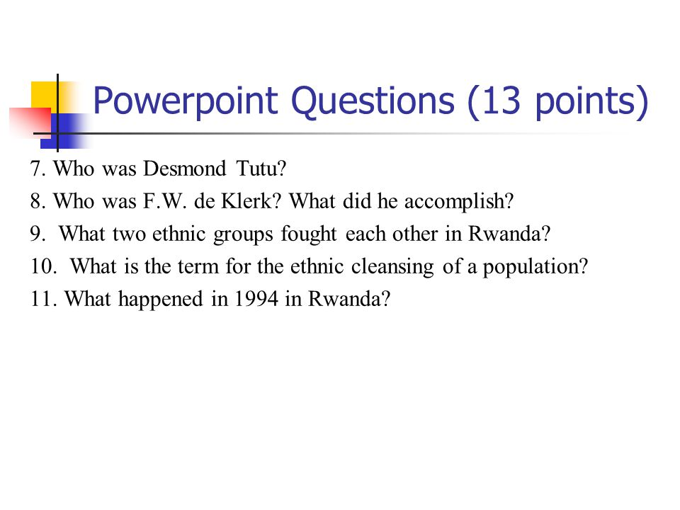Powerpoint Questions (13 points)