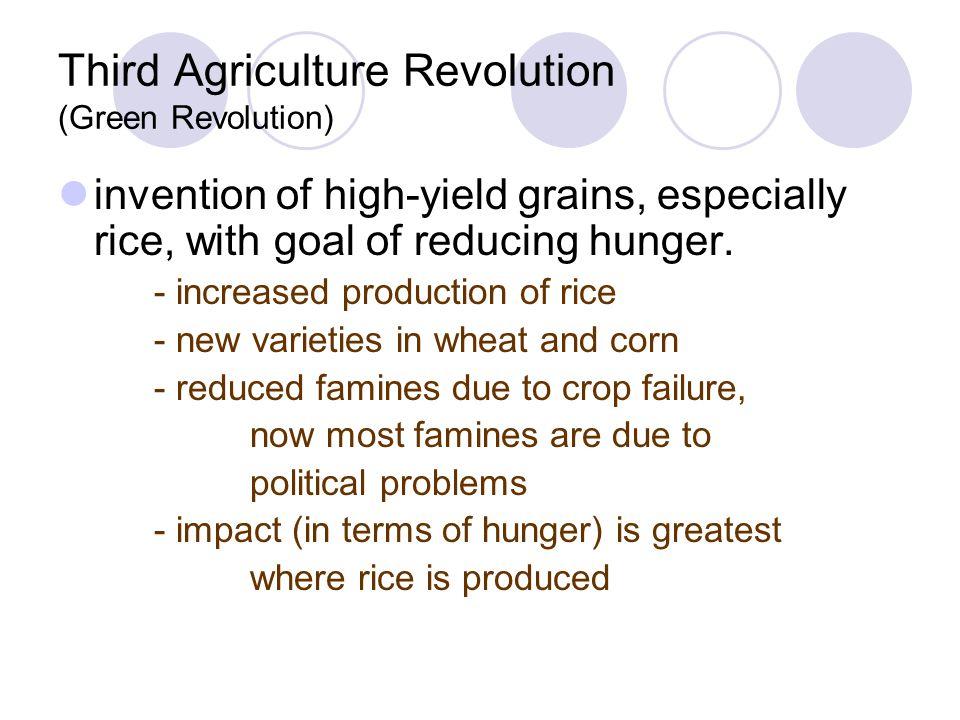 Third Agriculture Revolution (Green Revolution)