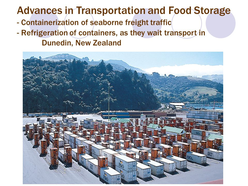 Advances in Transportation and Food Storage