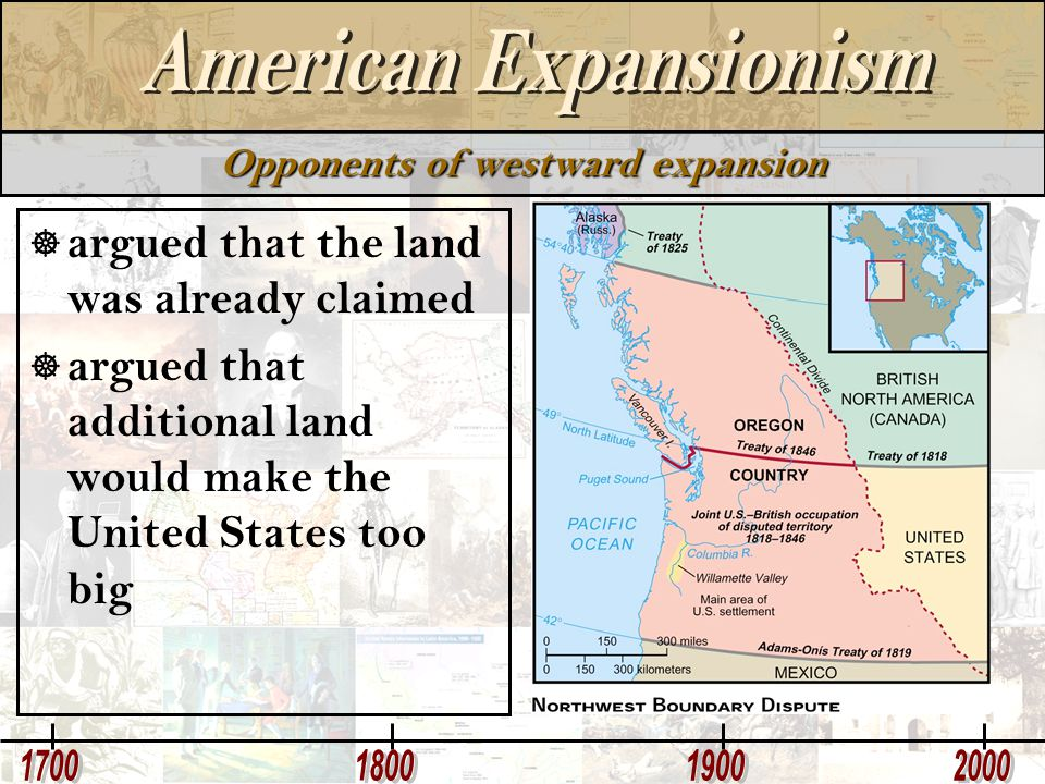 Opponents of westward expansion
