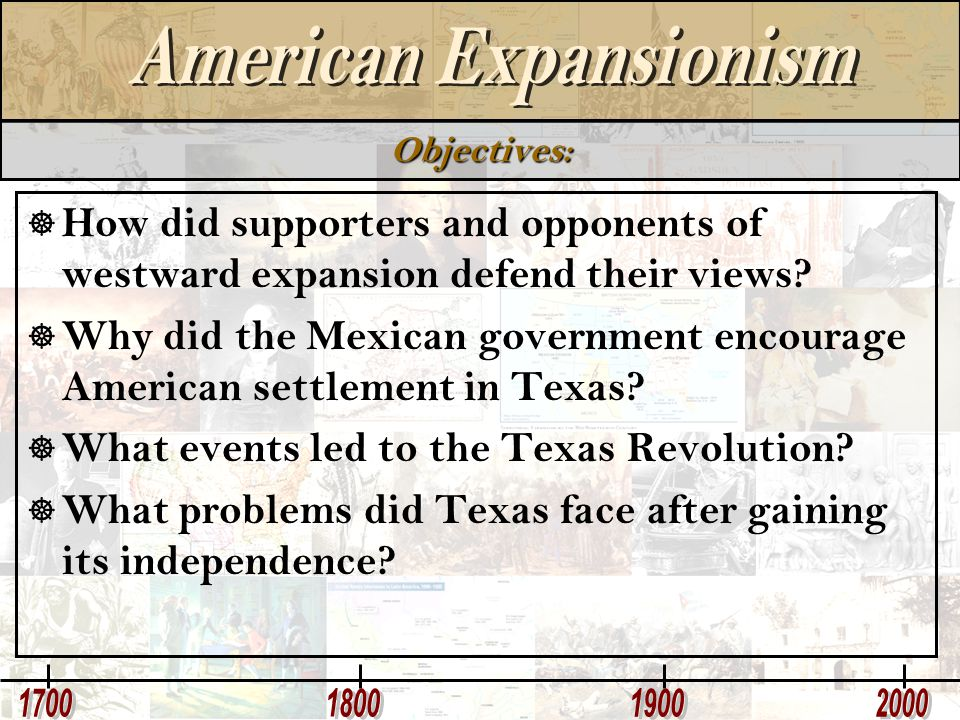 Why did the Mexican government encourage American settlement in Texas