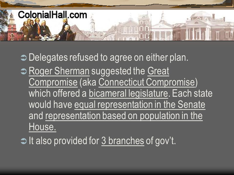 Delegates refused to agree on either plan.