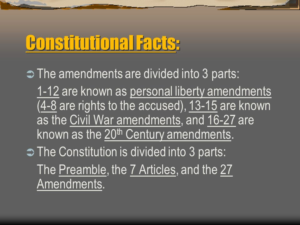 Constitutional Facts: