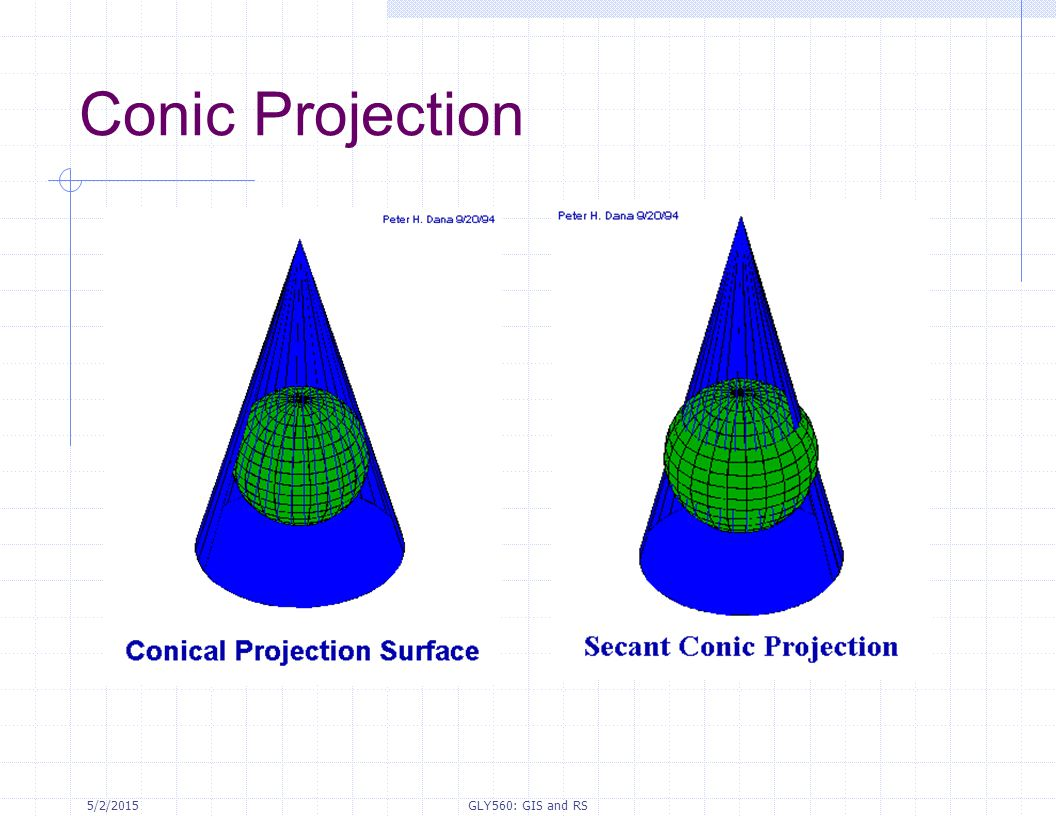 Conic Projection 4/14/2017 GLY560: GIS and RS