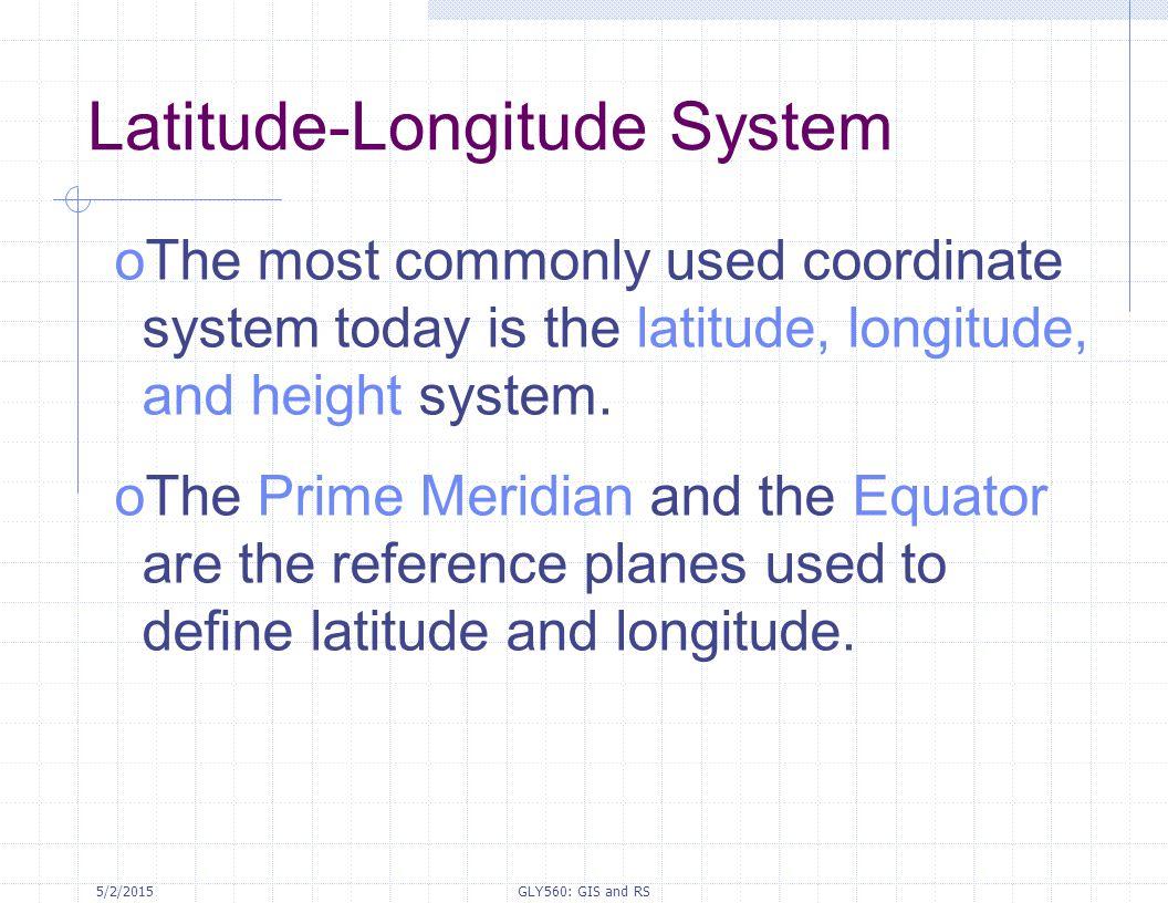 Latitude-Longitude System