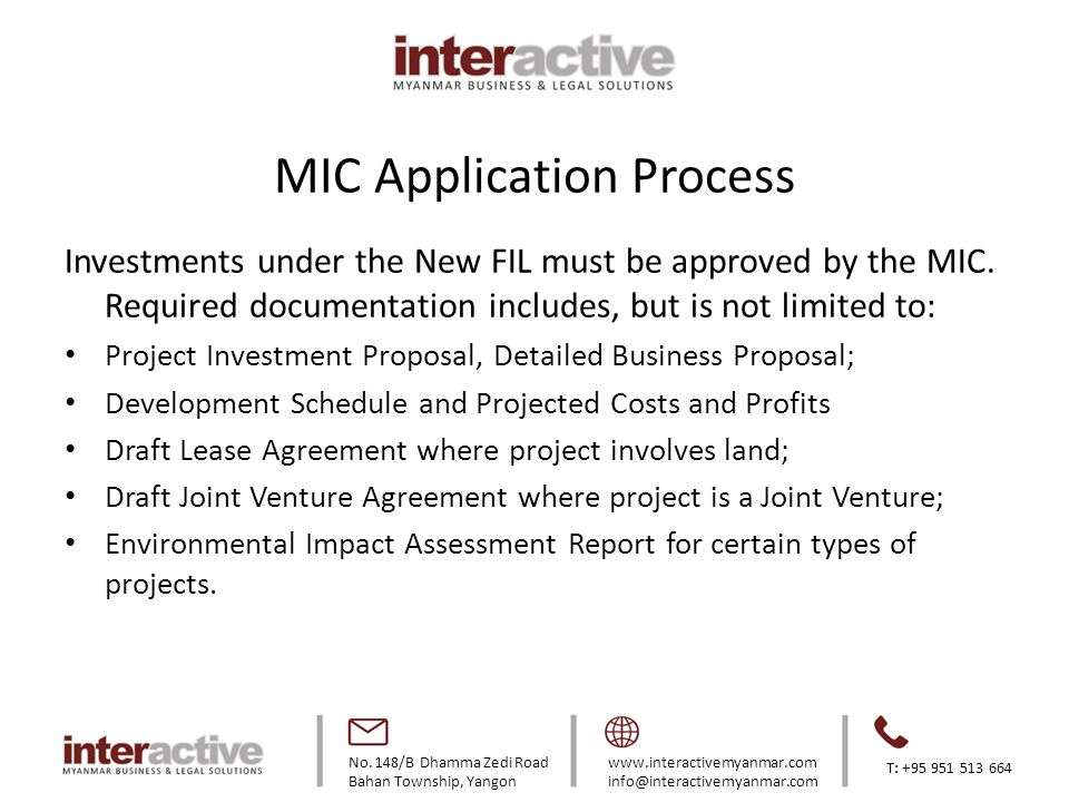 MIC Application Process