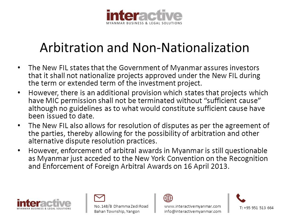 Arbitration and Non-Nationalization