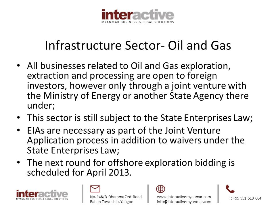 Infrastructure Sector- Oil and Gas