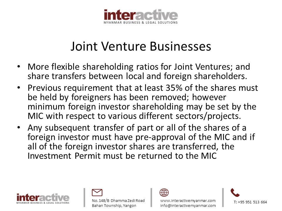 Joint Venture Businesses