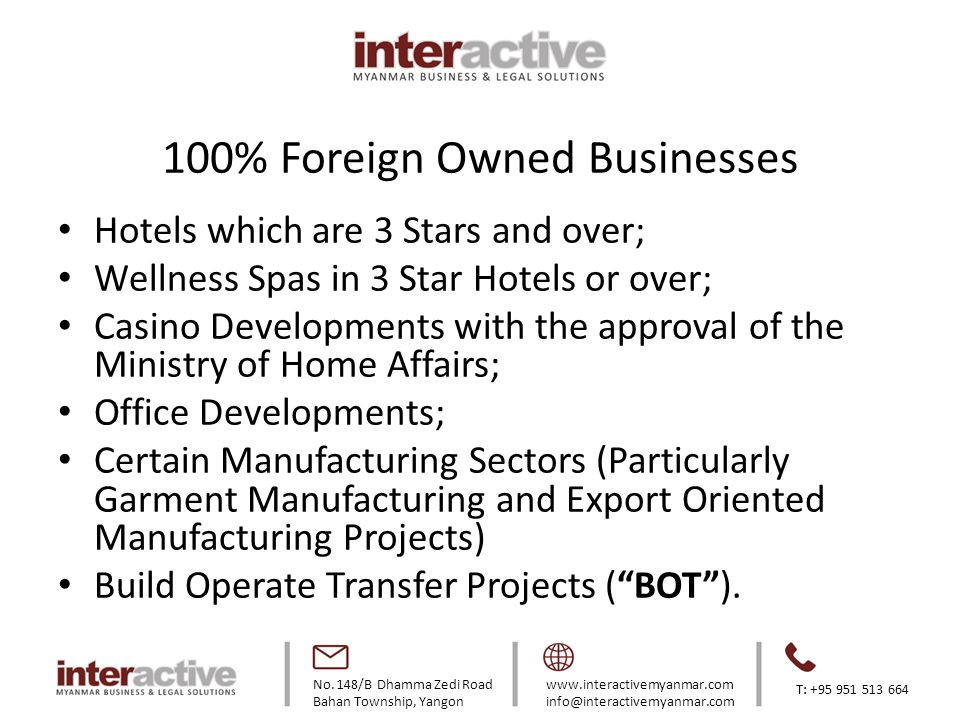 100% Foreign Owned Businesses