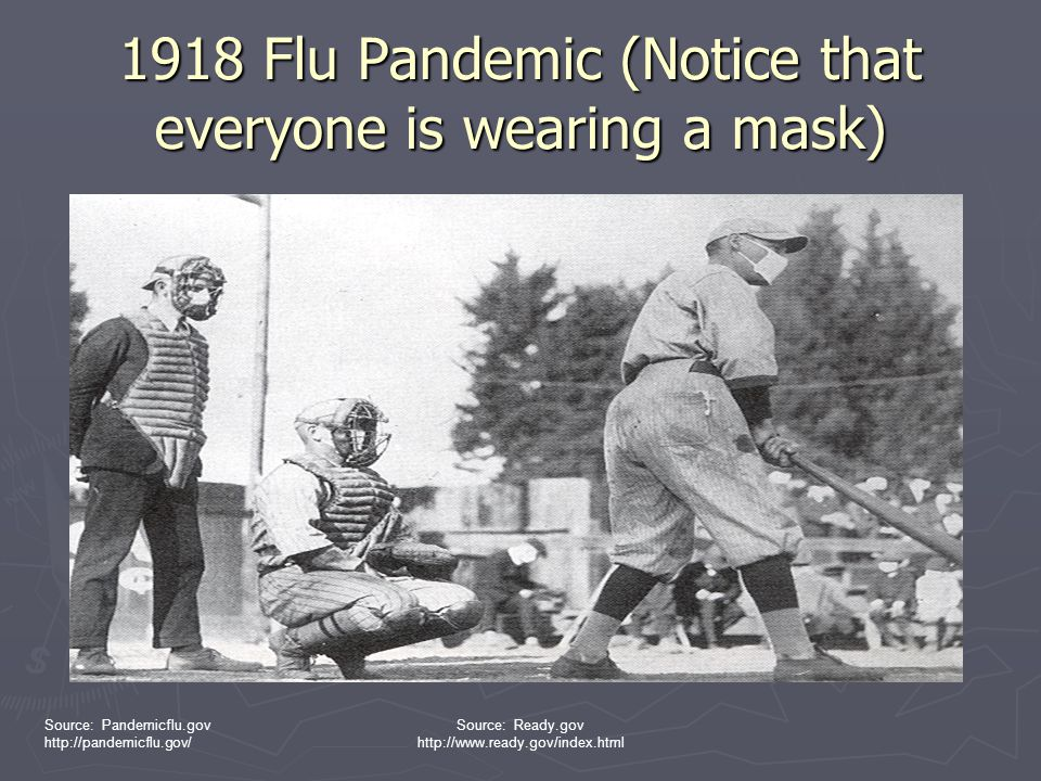1918 Flu Pandemic (Notice that everyone is wearing a mask)