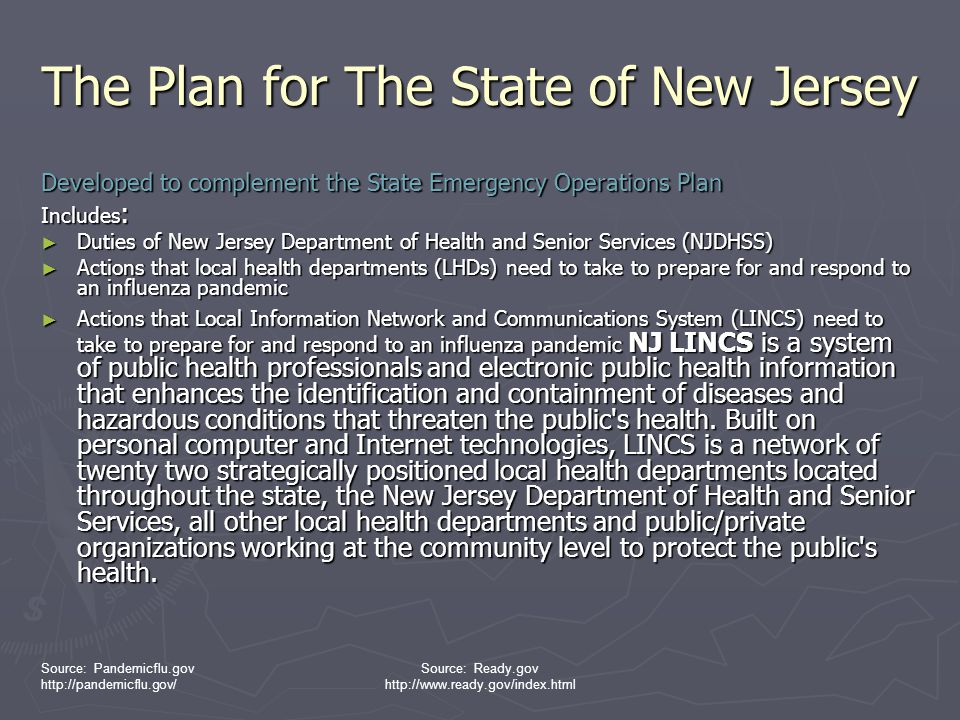 The Plan for The State of New Jersey
