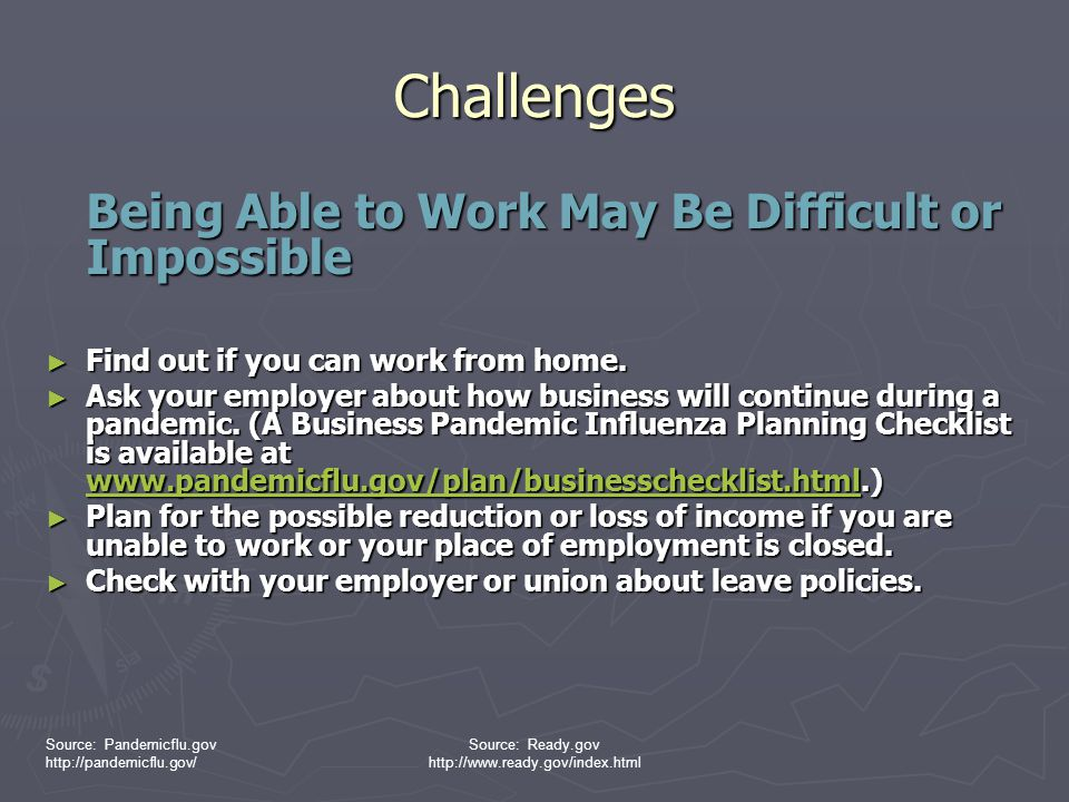 Challenges Being Able to Work May Be Difficult or Impossible
