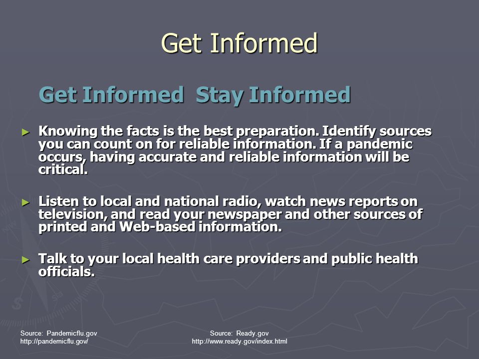 Get Informed Get Informed Stay Informed