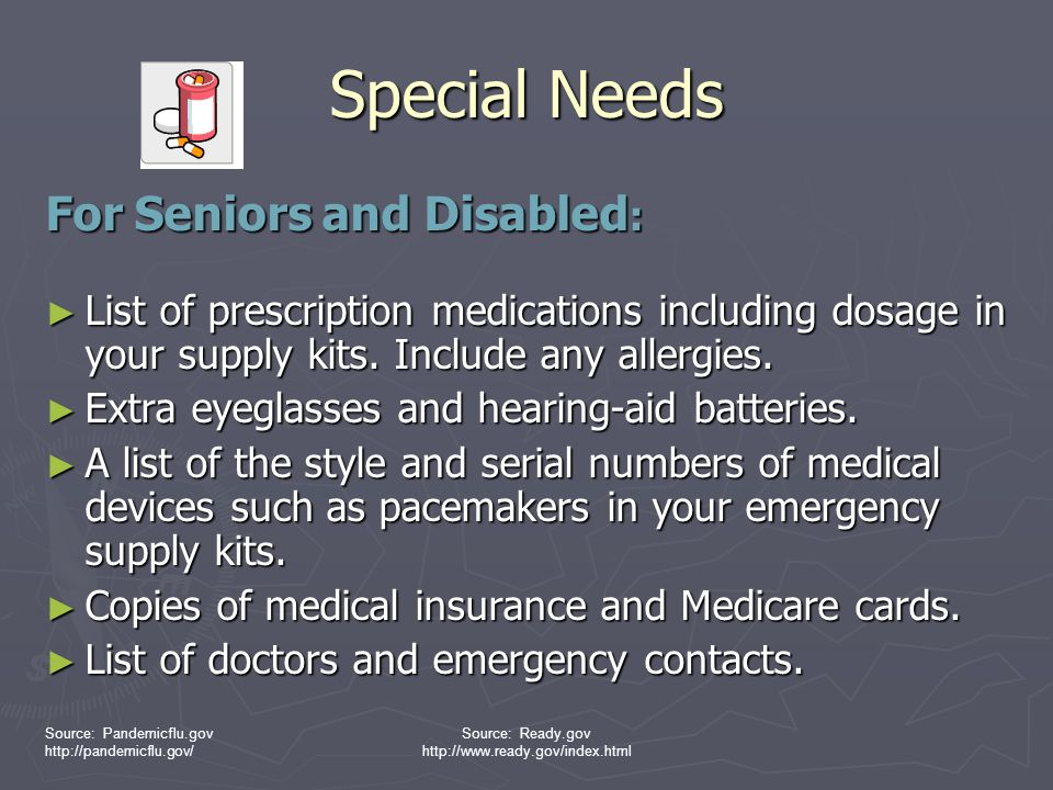 Special Needs For Seniors and Disabled: